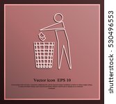 recycle icon  man throwing...   Shutterstock .eps vector #530496553