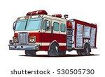 fire truck cartoon illustration | Shutterstock .eps vector #530505730