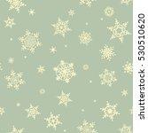 christmas snowflake seamless... | Shutterstock .eps vector #530510620