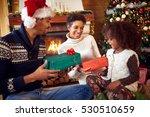 smiling african american... | Shutterstock . vector #530510659