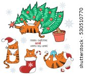 christmas and new year set.... | Shutterstock . vector #530510770