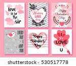 happy valentines day. set of... | Shutterstock .eps vector #530517778