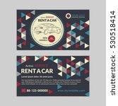 rent a car business card... | Shutterstock .eps vector #530518414