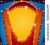retro stage shining banner...   Shutterstock .eps vector #530526199