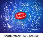 christmas vintage line art... | Shutterstock .eps vector #530526358