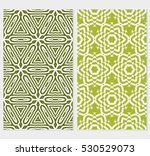set of floral seamless pattern... | Shutterstock .eps vector #530529073