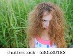 little beautiful girl with... | Shutterstock . vector #530530183