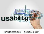 usability word cloud concept | Shutterstock . vector #530531104