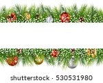 Christmas Background With Pine...