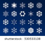 set snowflakes icons vector... | Shutterstock .eps vector #530533138