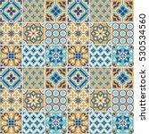 decorative tile pattern design. ... | Shutterstock .eps vector #530534560