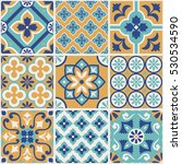 decorative tile pattern design. ... | Shutterstock .eps vector #530534590