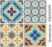 decorative tile pattern design. ... | Shutterstock .eps vector #530534599