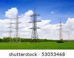 power transmission line. | Shutterstock . vector #53053468