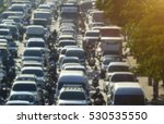 blurred traffic jam in bangkok... | Shutterstock . vector #530535550