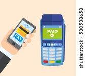 wireless payment trough smart...   Shutterstock .eps vector #530538658