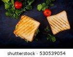 big club sandwich with ham ... | Shutterstock . vector #530539054