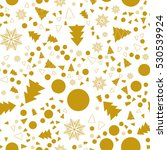 christmas and new year seamless ... | Shutterstock .eps vector #530539924