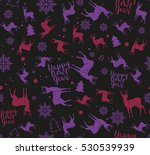 happy new year seamless pattern.... | Shutterstock .eps vector #530539939