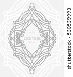 decorative vector frame and... | Shutterstock .eps vector #530539993