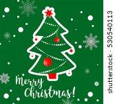 christmas hand drawn tree... | Shutterstock .eps vector #530540113