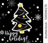 new year hand drawn tree... | Shutterstock .eps vector #530540170