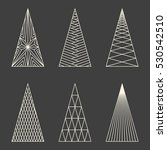 set of linear graphic stylized... | Shutterstock .eps vector #530542510