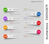 time line info graphic with... | Shutterstock .eps vector #530542879