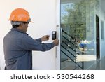 close up hand inserting keycard ... | Shutterstock . vector #530544268