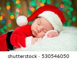 Portrait Of Newborn Baby In...