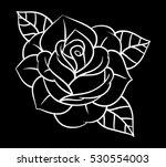 flowers roses  black and white. ...   Shutterstock .eps vector #530554003