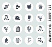 wine icons | Shutterstock .eps vector #530554318