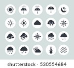 weather icons | Shutterstock .eps vector #530554684