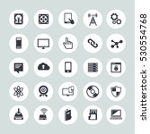 technology icons set computer ... | Shutterstock .eps vector #530554768