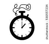 silhouette black of stopwatch... | Shutterstock .eps vector #530557234