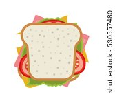 ham and vegetable sandwich icon | Shutterstock .eps vector #530557480