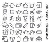 set of modern thin line icons... | Shutterstock .eps vector #530560480