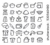 set of modern thin line icons... | Shutterstock .eps vector #530560480