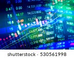 financial data on a monitor as... | Shutterstock . vector #530561998