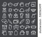 set of modern thin line icons... | Shutterstock .eps vector #530562499