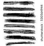 black ink vector brush strokes. ... | Shutterstock .eps vector #530564944