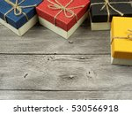 present box on wood background | Shutterstock . vector #530566918