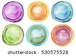 circle watercolor painted... | Shutterstock . vector #530575528