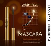 mascara  gold packaging. vector ... | Shutterstock .eps vector #530577364