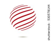 abstract striped spheres.sphere ... | Shutterstock .eps vector #530578144