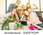 happy students employee workers ... | Shutterstock . vector #530579299