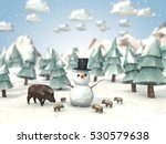 cartoon style low poly 3d... | Shutterstock . vector #530579638