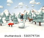 cartoon style low poly 3d... | Shutterstock . vector #530579734
