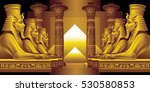alley of sphinxes on a black... | Shutterstock .eps vector #530580853
