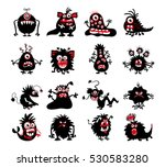halloween black monster... | Shutterstock .eps vector #530583280